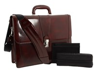 Bosca Old Leather Collection Double Gusset Briefcase Cognac Leather Briefcase Bags Brown