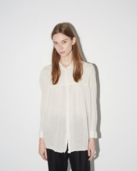 Raquel Allegra Combo Baby Button Up Dirty White