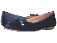 Kate Spade Emma Too Blue Velvet Blue Satin