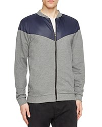 Sovereign Code Holt Color Block Zip Sweatshirt Charcoal Navy