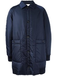 Societe Anonyme Single Breasted Coat Blue
