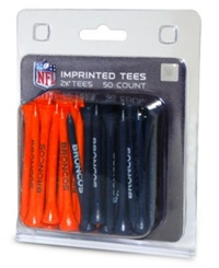 Team Golf Denver Broncos 50 Pack Golf Tees Team Color