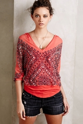 Twelfth St. By Cynthia Vincent Sedona Silk Blouse Orange
