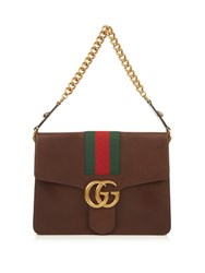 Gucci Gg Marmont Leather Shoulder Bag Brown