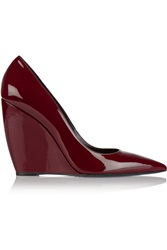 Nicholas Kirkwood Lizy Patent Leather Wedge Pumps