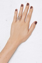 Nasty Gal Vanessa Mooney The Bandit Rhodium Duo Ring