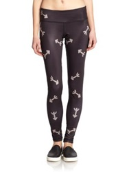 Phat Buddha War Horse Leggings Black