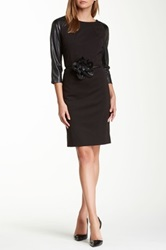 Insight Ponte Flower Dress Black