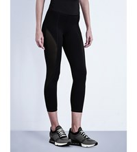 Ivy Park Mesh Panel Jersey Leggings Black