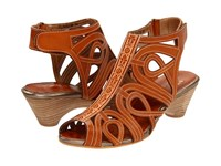 Spring Step Flourish Natural Leather Women's Sandals Brown