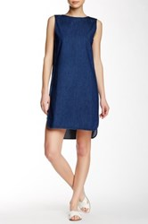 Shades Of Grey Side Panel Shift Dress Blue