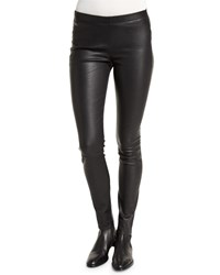 Zadig And Voltaire Pharel Stretch Leather Leggings Black Noir
