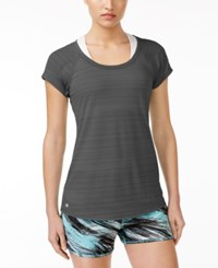 Ideology Lightweight Striped T Shirt Only At Macy's Deep Charcoal