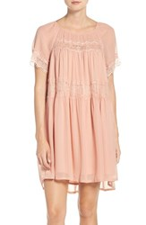 French Connection Women's Lace And Chiffon Babydoll Dress