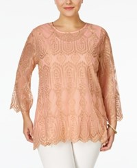 American Rag Plus Size Embroidered Blouse Only At Macy's Blush