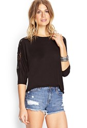 Forever 21 Floral Lace Dolman Top
