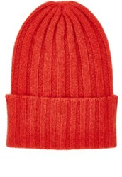 The Elder Statesman Women's Bunny Echo Cashmere Beanie Red