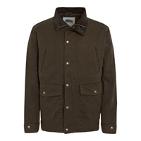 Weird Fish Check Lined Casual Showerproof Full Zip Mac Olive