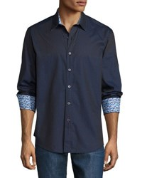 Robert Graham Ginkgoes Diamond Woven Shirt Navy