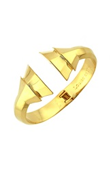 Louise Et Cie Faceted Hinge Cuff Gold
