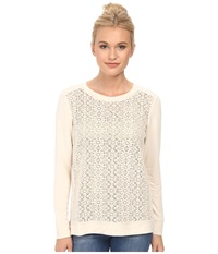 Kensie Drapey French Terry Sweatshirt Ks3k3600 Vanilla Women's Sweatshirt Bone