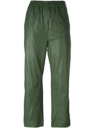 Forte Forte Tapered Cropped Trousers Green