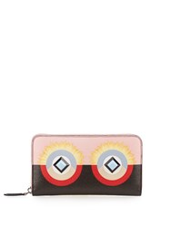 Fendi Bag Bugs Leather Wallet Black Multi