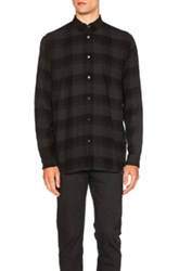 Robert Geller Plaid Dress Shirt In Gray Checkered And Plaid Gray Checkered And Plaid