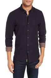 Scotch And Soda Men's Extra Trim Fit Plaid Twill Woven Shirt