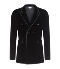 Saint Laurent Velvet Tuxedo Jacket Male Black
