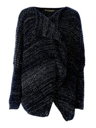 Red Soul Knitted And Textured Wide Cardigan Grey