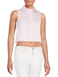 Milly Button Front Crop Top Blush