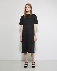 Jil Sander Pleated T Shirt Dress Black