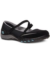Skechers Women's Relaxed Fit Breathe Easy Quittin Time Memory Foam Casual Sneakers From Finish Line Black