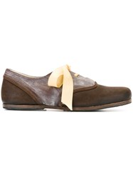 Geoffrey B. Small Round Toe Lace Up Shoes Brown
