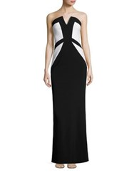 Parker Black Caroline Strapless Gown Black White