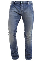 Gas Jeans Gas New Albert Slim Fit Jeans Bluegreen Stone Blue