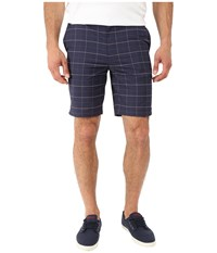 Lacoste Sport Ultra Dry Stretch Gabardine Golf Bermuda Short Navy Blue White Duck Men's Shorts Black