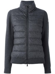 Moncler Padded Front Knitted Cardigan Grey