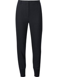 3.1 Phillip Lim Tapered Pinstripe Trousers Blue