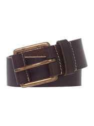 Howick Leather Tab Jeans Belt Brown