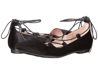 Chinese Laundry Endless Black Summer Velvet Women's Flat Shoes