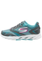 Skechers Performance Go Run Vortex Cushioned Running Shoes Charcoal Blue Grey