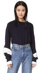 Clu Sweatshirt With Pleating Navy