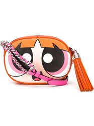 Moschino Blossom Crossbody Bag Pink And Purple