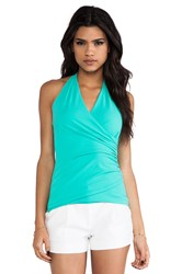 Susana Monaco Wrap Halter Top Mint