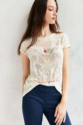 Urban Outfitters Woodstock Washed Out Tee Ivory