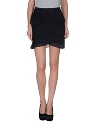 Maison Espin Mini Skirts Black