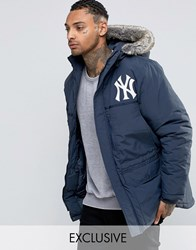 Majestic Yankees Parka Exclusive To Asos Navy