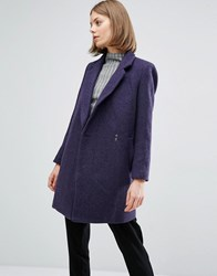 See U Soon Coat With Clasp Detail Navy